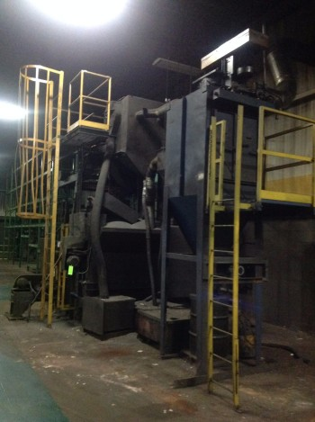 Wheelabrator 7 Cu Feet,tum blast machine