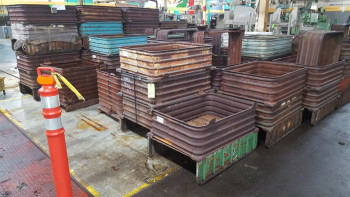 Lot of (50) stack able Steel Tubs