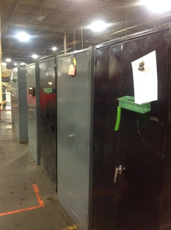 Lot of (7) 2 Door Metal Cabinets