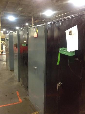 Lot of (7) 2 Door Metal Cabinets