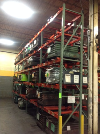lot heavy duty pallet racking