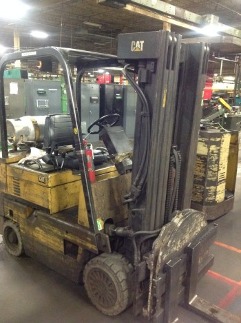 5000 lb Caterpillar prpane model T-50D fork truck