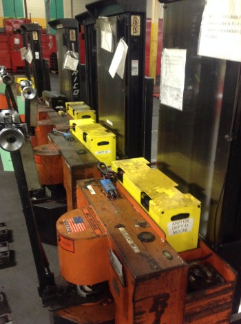 Lot of (3) Rico Electric Lifts model HLS40, 4,000lbs cap.