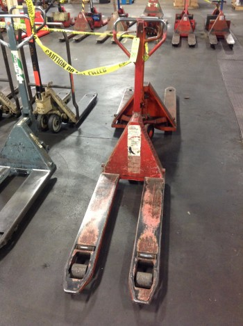 Lot of (2) Pallet-Jack Lifts, 5,500lbs cap.