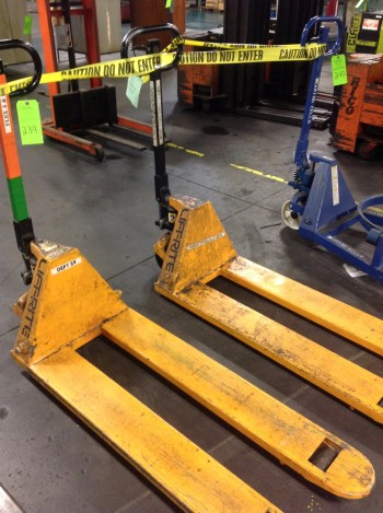 Lot of (2)Pallet-JacksLifts, Crown 4,500lbs cap. & Lift Rite 5,500lbs cap.