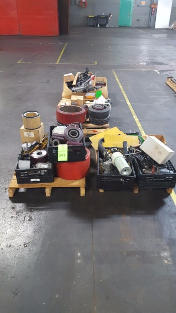 Lot of (3) Pallets w/ Spare Lift parts