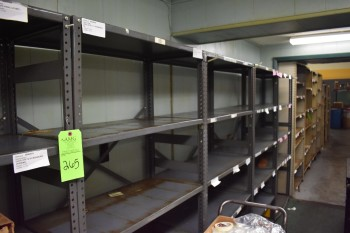 Lot of Metal Shelve units, Located in Tool crib