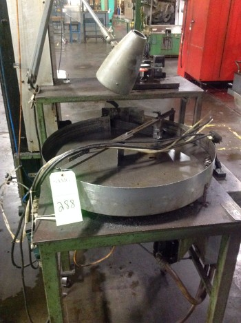 Lot of (2) Rotary bowl Feeds w/Stand