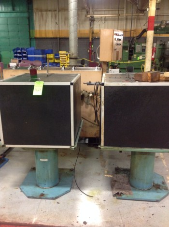 Lot of (2) Vibratory Hoppers w/stands
