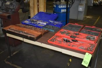 Tap & Die sets, Various sizes, Table
