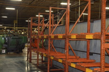 (6) Sections of Steel Racking, outside Tool Room