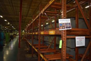 (8) section of heavy duty steel Racking