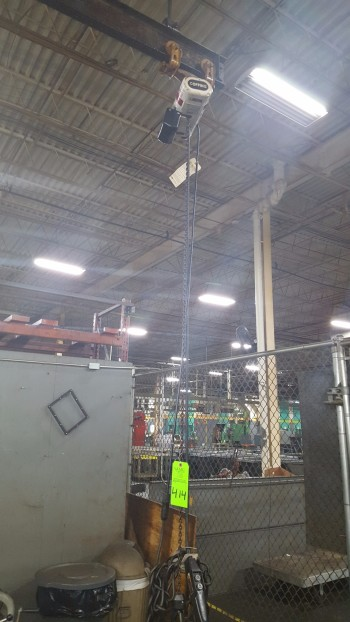 Coffing Electric Chain Hoist, Approx.  .5 Ton w/ Pendant