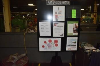Plant Information Board, Swivel mounted