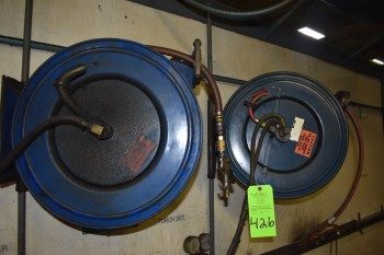 Lot of (2) Air Hose Reels