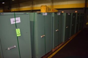 Lot of (9) Stanley Vidmar metal Tool Cabinet
