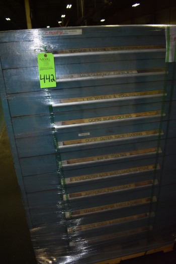 Lot of (13) Stanley Vidmar drawer style Tool Cabinet