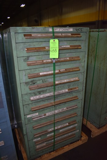 (2) Stanley Vidmar drawer style Tool Cabinets