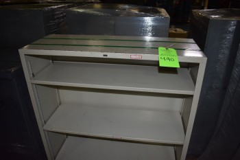 Lot of (2) Shelve style metal filing Cabinets