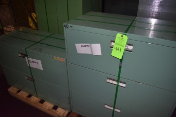 Lot of (2) Metal office filing Cabinets