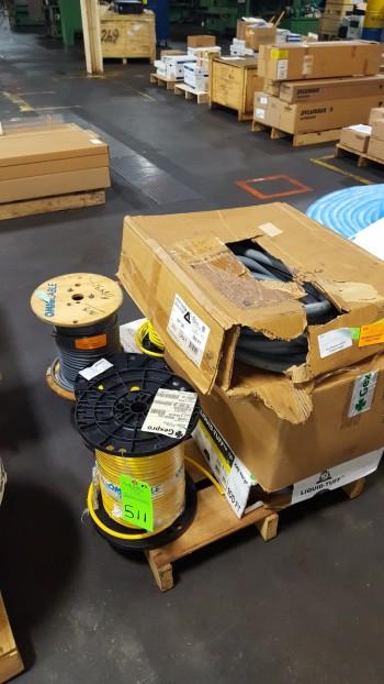 boxes of FLex COnduit, spools of 16 ga wire, Spool Tubing