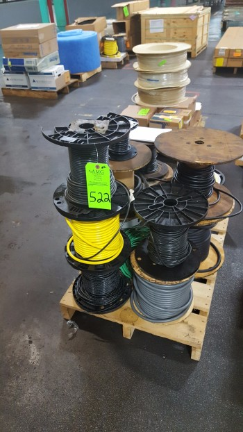 Lot 14 spools misc. Industrial wire