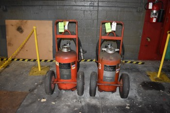 Lot of (4) Dry Chemical Fire Extuingshers