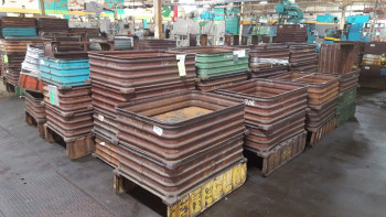 Lot of approx. (45) Steel stack able Tubs