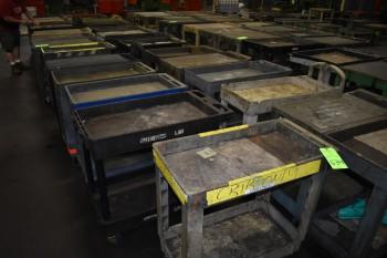 Lot of (11) Plastic   tool shop  Carts