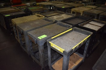 Lot of (8) Plastic  wheeled Carts