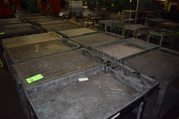 Lot of (8) rolling shop Carts
