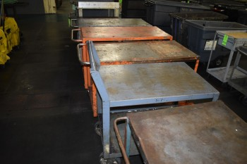 Lot of (5) Metal rolling Carts