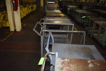Lot of (9) Metal rolling Carts
