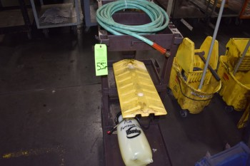 Portable plastic trash Cart & Sprayer