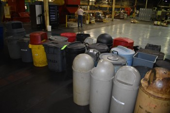 Lot of approx. (32) Plastic Gabage trash cans