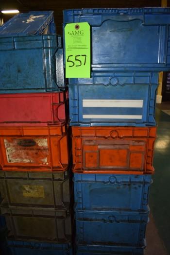 (6) Skids of plastic Totes