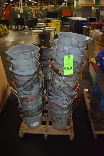 Pallet of approx. 45 Plastic Buckets