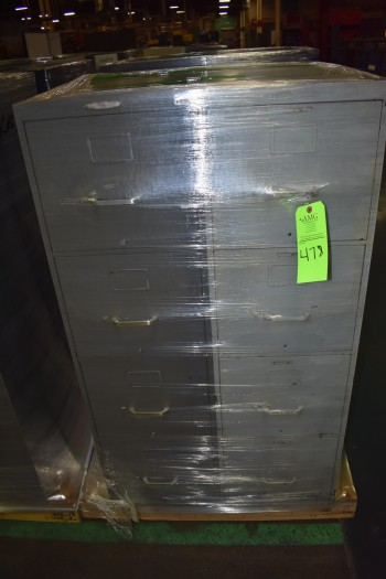 Lot of (2) 4 Drawer metal File Cabinets