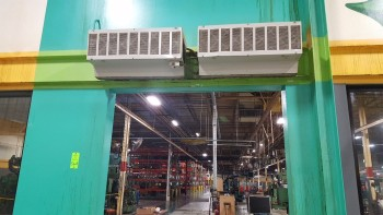 Lot of (2) Dayton Air Curtains