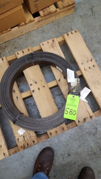 Lot of Coil of 5/8 wide galvanized HD banding material