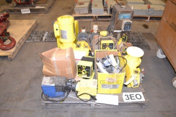 PALLET OF METERING PUMPS