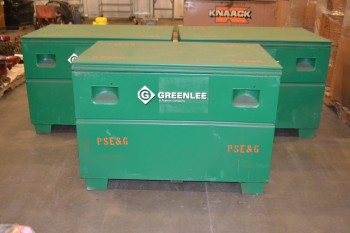 LOT OF 3 GREENLEE STORAGE BOXES