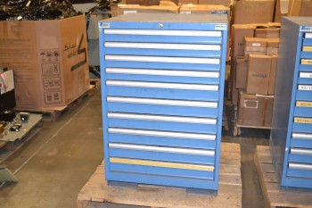 LISTA 10 DRAWER TOOL BOX W/ CONTENTS