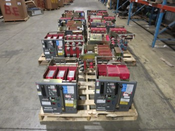 7 PALLETS OF ASSORTED WESTINGHOUSE LOW VOLTAGE BREAKERS