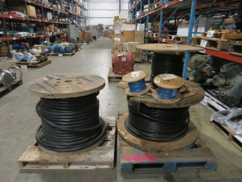 5 SPOOLS OF ASSORTED CABLE-WIRE