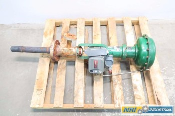 FISHER 2 IN 657 DVC6010 PNEUMATIC FLANGED CONTROL VALVE