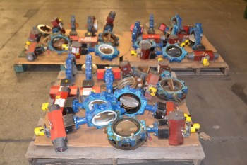 3 PALLETS OF GRINNELL LD-8270-4, SERIES 8000, 6 IN BUTTERFLY VALVES