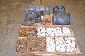 LOT OF ASSORTED VALVES, NIBCO, VIKING, NEWCO, GLOBE
