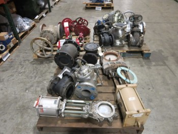 3 PALLETS OF ASSORTED VALVES