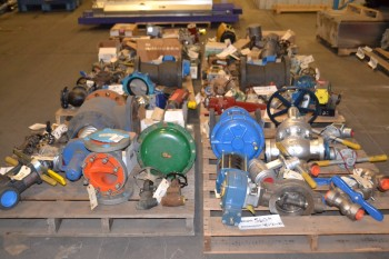 6 PALLETS OF ASSORTED VALVES 3/4\